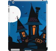Haunted scary house. Old scary mansion. Illustration. iPad Case/Skin