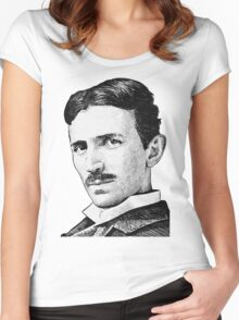 Tesla - Portrait Women's Fitted Scoop T-Shirt