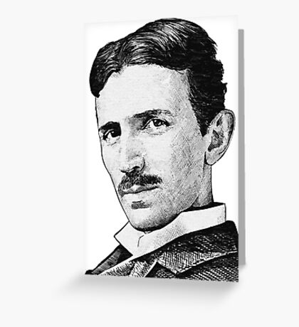 Tesla - Portrait Greeting Card