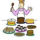 Love to bake, lady with cakes. by KateTaylor