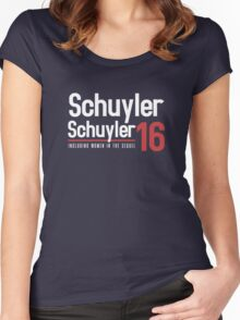Schuyler Sisters for president - inspired by Hamilton Women's Fitted Scoop T-Shirt
