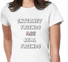 internet friends 2 Womens Fitted T-Shirt