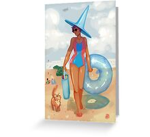 Summer Witch Greeting Card