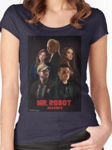 Mr. Robot Season 2 Women's Fitted Scoop T-Shirt