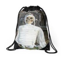 Creepy Skulled Mummy Drawstring Bag