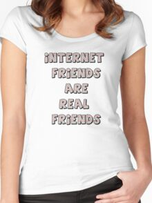 internet friends 3 Women's Fitted Scoop T-Shirt