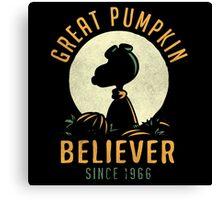 Great Pumpkin Believer Shirt Canvas Print