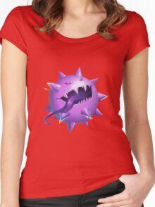 Haunted Pokeball - Pokemon rendition Women's Fitted Scoop T-Shirt