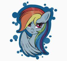 Rainbow Dash, blue bubbles Kids Tee