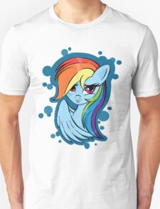 Rainbow Dash, blue bubbles Unisex T-Shirt