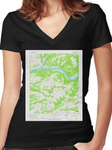 USGS TOPO Map Arkansas AR Cecil 258161 1965 24000 Women's Fitted V-Neck T-Shirt