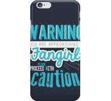 Warning, Fangirl Vr. 2 iPhone Case/Skin