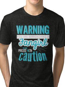 Warning, Fangirl Vr. 2 Tri-blend T-Shirt