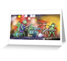 The Frogs / band. Greeting Card
