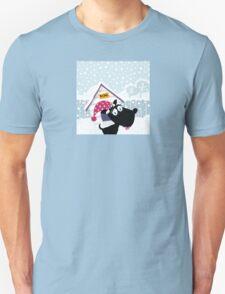 Funny christmas dog. Adorable christmas doggie in christmas hat Unisex T-Shirt