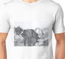 Man and his dog Unisex T-Shirt