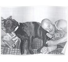 Man and his dog Poster