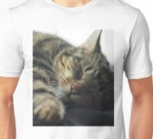 Sleeping Elsa Tabby Cat Unisex T-Shirt