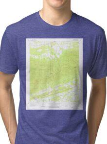 USGS TOPO Map Arkansas AR Bates 257940 1958 24000 Tri-blend T-Shirt