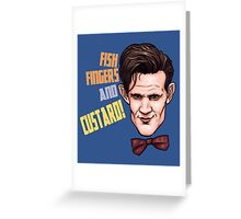 Fishfingers and Custard Greeting Card