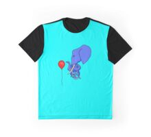 Curious Octophant and the Red Balloon Graphic T-Shirt