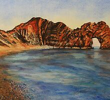 Durdle Door at Sunset by ArtByMikeW