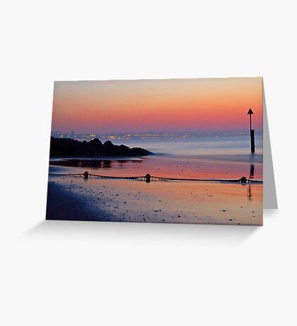 Summer Sunrise across Sandbanks Beach  Greeting Card