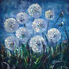 Dandelion Abstract by Lena Owens by ArtOLena