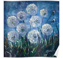 Dandelion Abstract by Lena Owens Poster