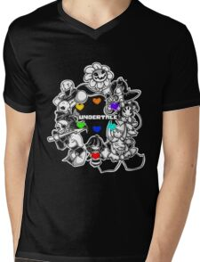 Undertale Mens V-Neck T-Shirt