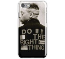 Do The Right Back iPhone Case/Skin