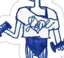 80s exercise lady lemonhead Sticker