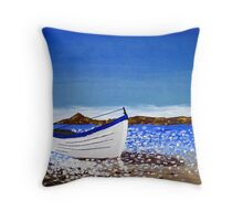 Donegal Dingy (acrylic on canvas) Throw Pillow