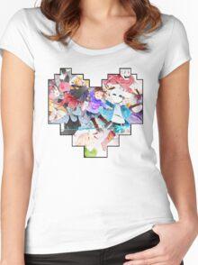 Undertale Heart Women's Fitted Scoop T-Shirt