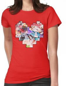 Undertale Heart Womens Fitted T-Shirt