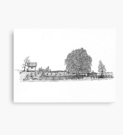 Willow Road Canvas Print