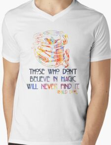 Those Who Don't Believe in Magic - Roald Dahl Mens V-Neck T-Shirt