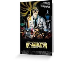 Re-Animator Poster Greeting Card