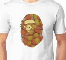 BAPE | Candy Corn | White Background | 45% Opacity | High Quality! Unisex T-Shirt