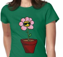Cool Flower Womens Fitted T-Shirt