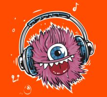Pink Monster Music Kids Clothes
