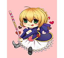 Saber - Fate Stay Night Photographic Print
