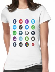 Social Media Womens Fitted T-Shirt