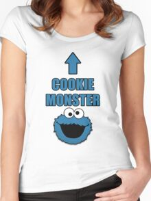 Cookie Monster Funny Shirt Women's Fitted Scoop T-Shirt