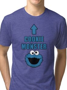 Cookie Monster Funny Shirt Tri-blend T-Shirt