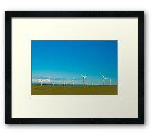Cornish Windfarm Framed Print