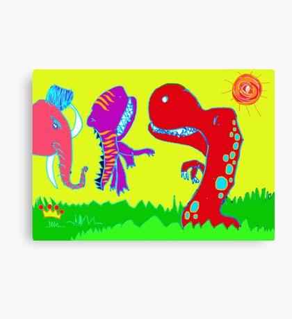 Sizzlining Fun in Scorching Sun  Canvas Print