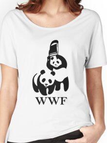 WWF Panda Parody Women's Relaxed Fit T-Shirt