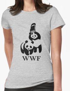 WWF Panda Parody Womens Fitted T-Shirt