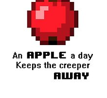An apple a day keeps the creeper away by PlatinumFury
